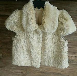Jackets & Blazers - Faux fur crop jacket